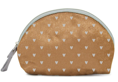Sweet Dreams Bronze Heart Cosmetic Bag