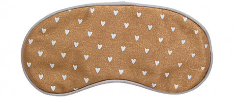 Sweet Dreams Bronze Heart Eye Mask
