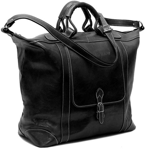 FLOTO Tack Leather Duffle Black