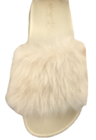 Gingerlilly Fluffy Slippers Taupe