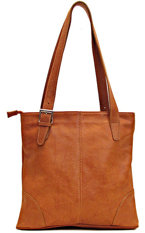 FLOTO Tavoli Shoulder Bag Saddle Brown