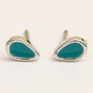 PIGEONHOLE Teardrop Teal Earrings