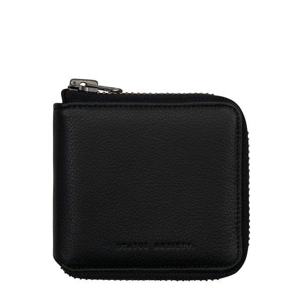 STATUS ANXIETY THE CURE LEATHER ZIP WALLET BLACK