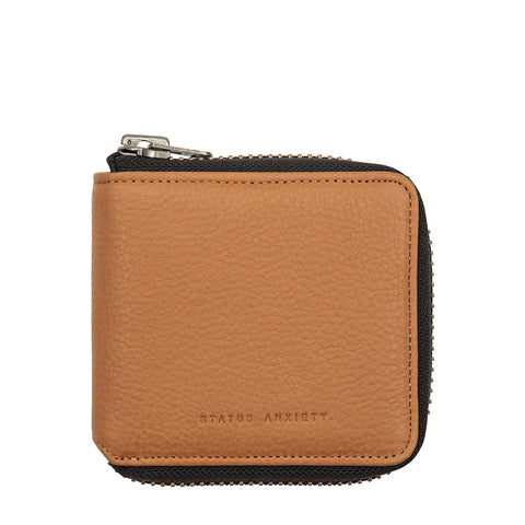 STATUS ANXIETY THE CURE LEATHER ZIP WALLET TAN