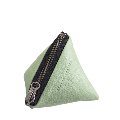 STATUS ANXIETY Leather This Could Be Love Wallet Mint Green