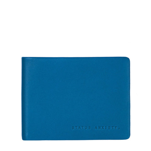 STATUS ANXIETY TOBIAS LEATHER SLIM WALLET BLUE