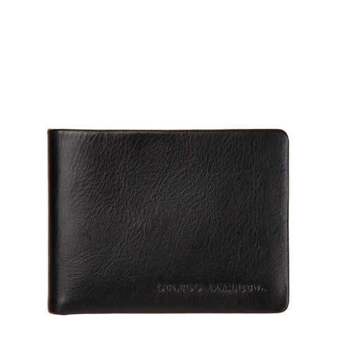 STATUS ANXIETY Tobias Leather Slim Wallet Black