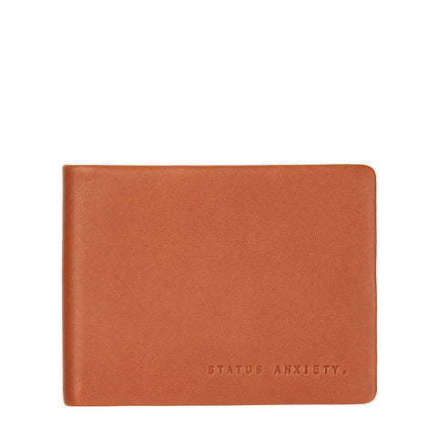 STATUS ANXIETY Tobias Leather Slim Wallet Camel