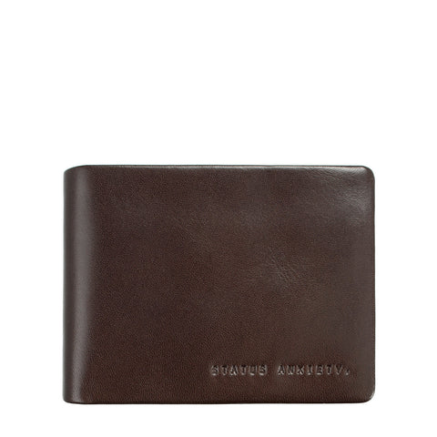 STATUS ANXIETY Tobias Leather Slim Wallet Chocolate