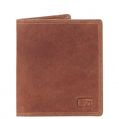 ZOOMLITE Vintage Leather RFID Toby Folding Card Holder Wallet Camel