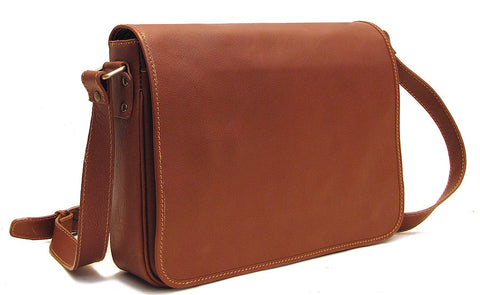 FLOTO Toscana Messenger Bag Saddle Brown