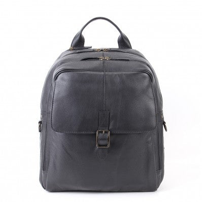 ZOOMLITE Soft Leather Toby Laptop Backpack Black