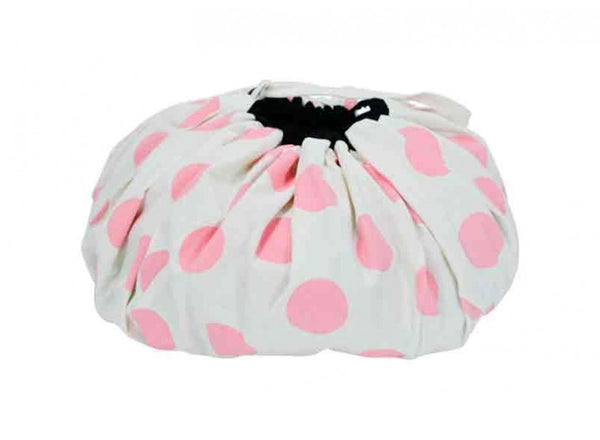 Toy Mat & Storage Bag Pink Dot
