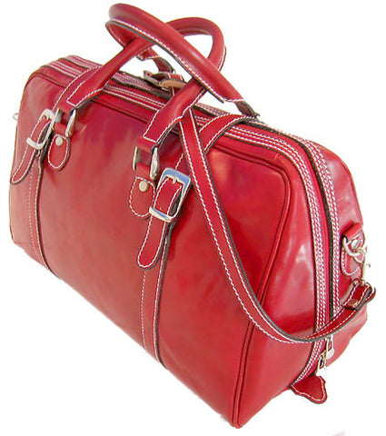 FLOTO Trastevere Leather Duffle Tuscan Red