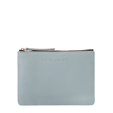 STATUS ANXIETY TREACHEROUS LEATHER POUCH WALLET ARTIC GREY