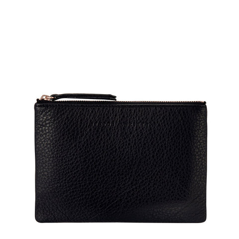 STATUS ANXIETY TREACHEROUS LEATHER POUCH WALLET BLACK