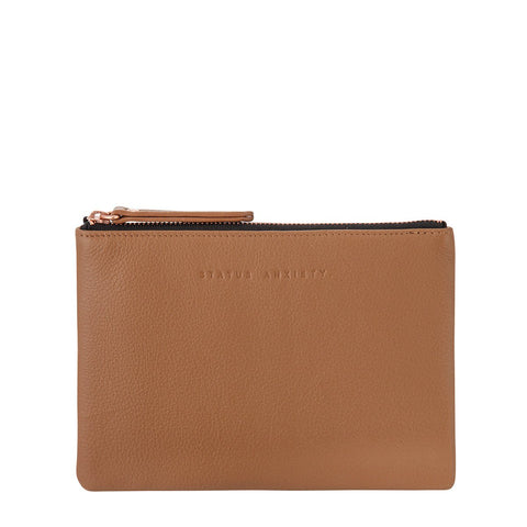 STATUS ANXIETY TREACHEROUS LEATHER POUCH WALLET TAN