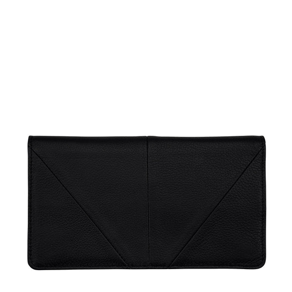 STATUS ANXIETY TRIPLE THREAT LEATHER POUCH WALLET BLACK
