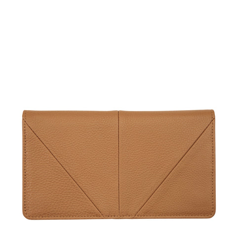 STATUS ANXIETY TRIPLE THREAT LEATHER POUCH WALLET TAN