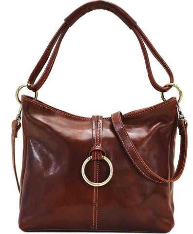 FLOTO TAVOLI LEATHER TOTE BAG VECCHIO BROWN
