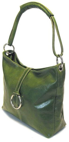 FLOTO TAVOLI LEATHER TOTE BAG GREEN