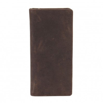 ZOOMLITE Vintage Leather RFID Texas Ziparound Travel Wallet Brown