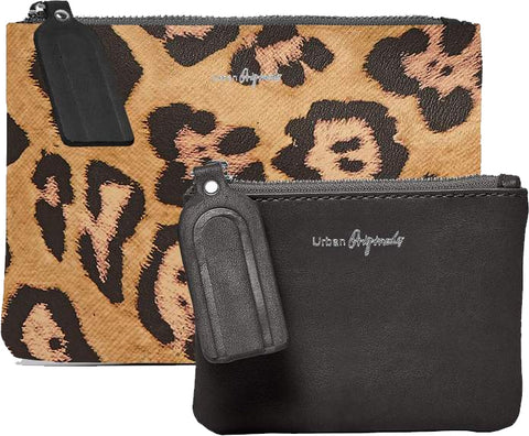 URBAN ORIGINALS Dreamer Pouch Wallet & Coin Purse Leopard Black