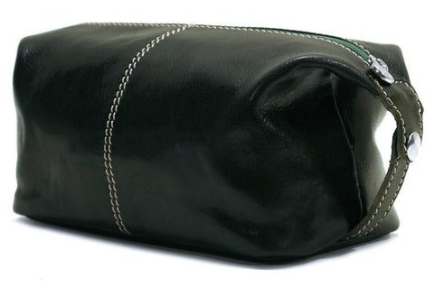 FLOTO Venezia Leather Travel Kit Dark Green