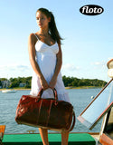 FLOTO Venezia Leather Duffle Vecchio Brown