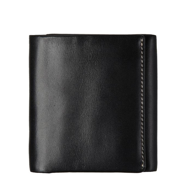 STATUS ANXIETY VINCENT LEATHER TRI-FOLD WALLET BLACK