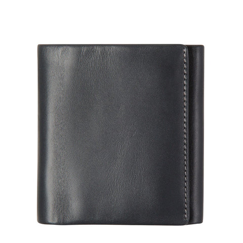 STATUS ANXIETY VINCENT LEATHER TRI-FOLD WALLET CHARCOAL GREY