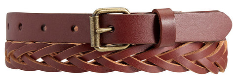 STATUS ANXIETY Volition Leather Belt Chocolate