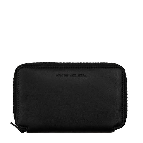 STATUS ANXIETY VOW LEATHER TRAVEL WALLET BLACK
