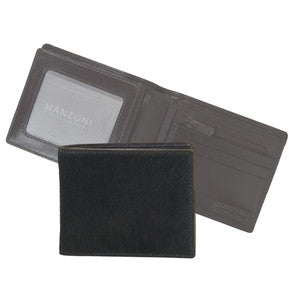 MANZONI Leather Tri-fold Wallet  (Style W51) SALE - CHOCOLATE