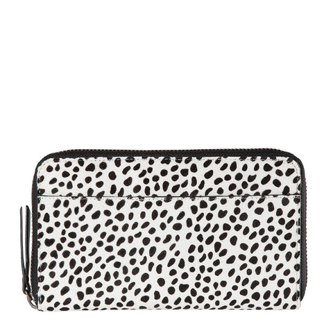STATUS ANXIETY Delilah Leather Wallet Snow Cheetah