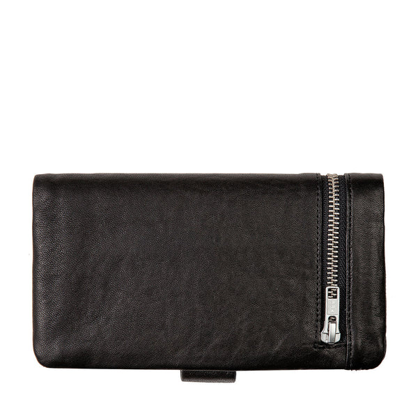 STATUS ANXIETY Esther Leather Wallet Bubble Black