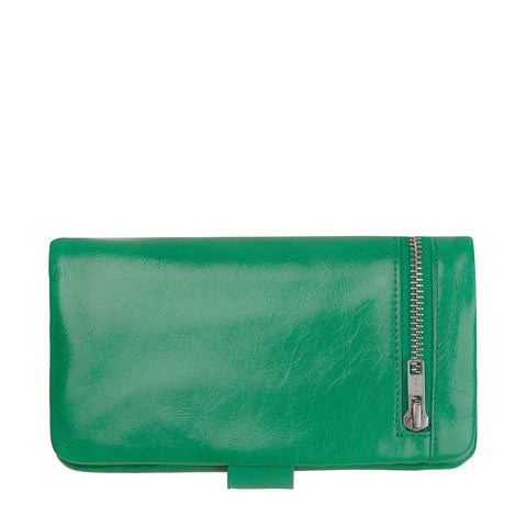 STATUS ANXIETY Esther Leather Wallet Emerald