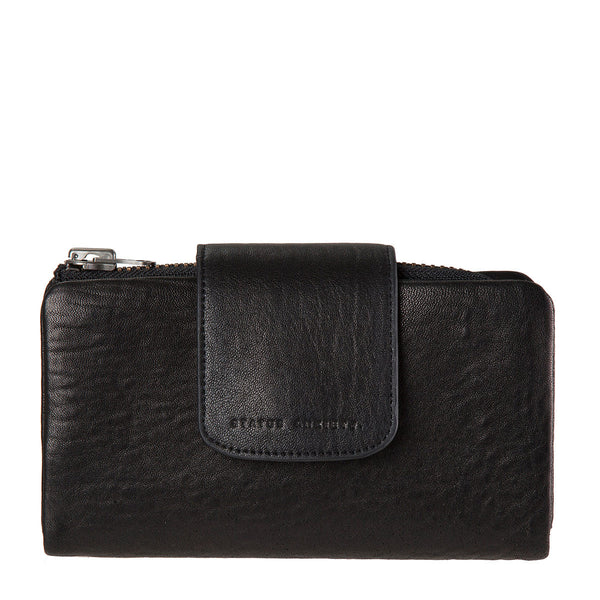 STATUS ANXIETY The Fallen Leather Wallet Black