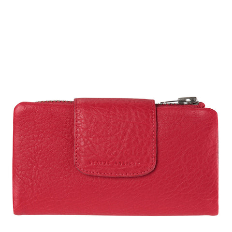 STATUS ANXIETY The Fallen Leather Wallet Red