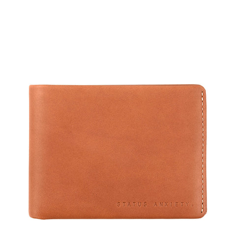 STATUS ANXIETY Hosea Leather Wallet Camel