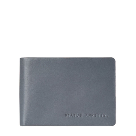 STATUS ANXIETY Jonah Leather Wallet Slate