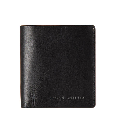 STATUS ANXIETY Merv Leather Wallet Black