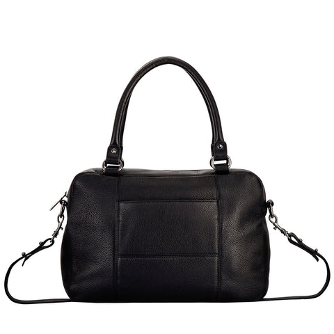 STATUS ANXIETY WAR WITH THE OBVIOUS LEATHER SHOULDER BAG BLACK WITH FREE WALLET