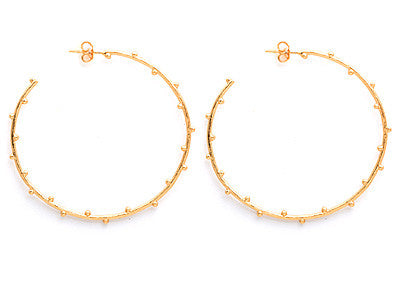 GORJANA Gold Plated Willow Hoop Earrings