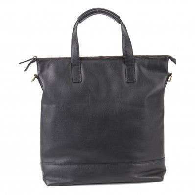 ZOOMLITE  Leather York Tote Bag Black