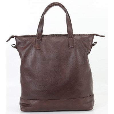 ZOOMLITE  Leather York Tote Bag Chocolate