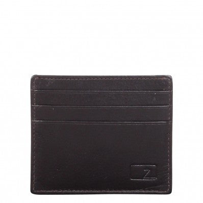 ZOOMLITE Classic Leather Arlington ID/Card Holder Chocolate