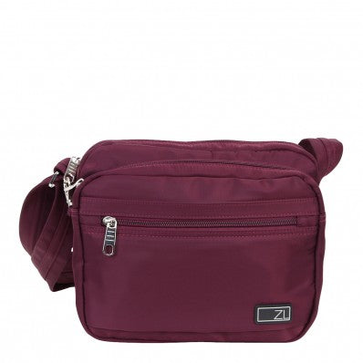 ZOOMLITE METROSHIELD ANTI-THEFT SHOULDER BAG BERRY PURPLE