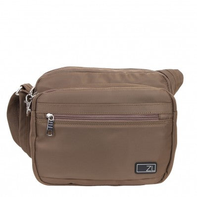 ZOOMLITE METROSHIELD ANTI-THEFT SHOULDER BAG KHAKI BROWN