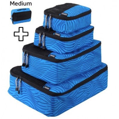 ZOOMLITE SMART PACKING CUBES SET BLUESTRIPE